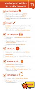 Checkliste Karriereseite auf der Website