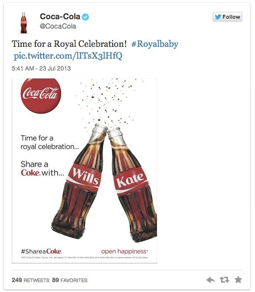 (Quelle: Screenshot Twitter, Account: Coca-Cola)